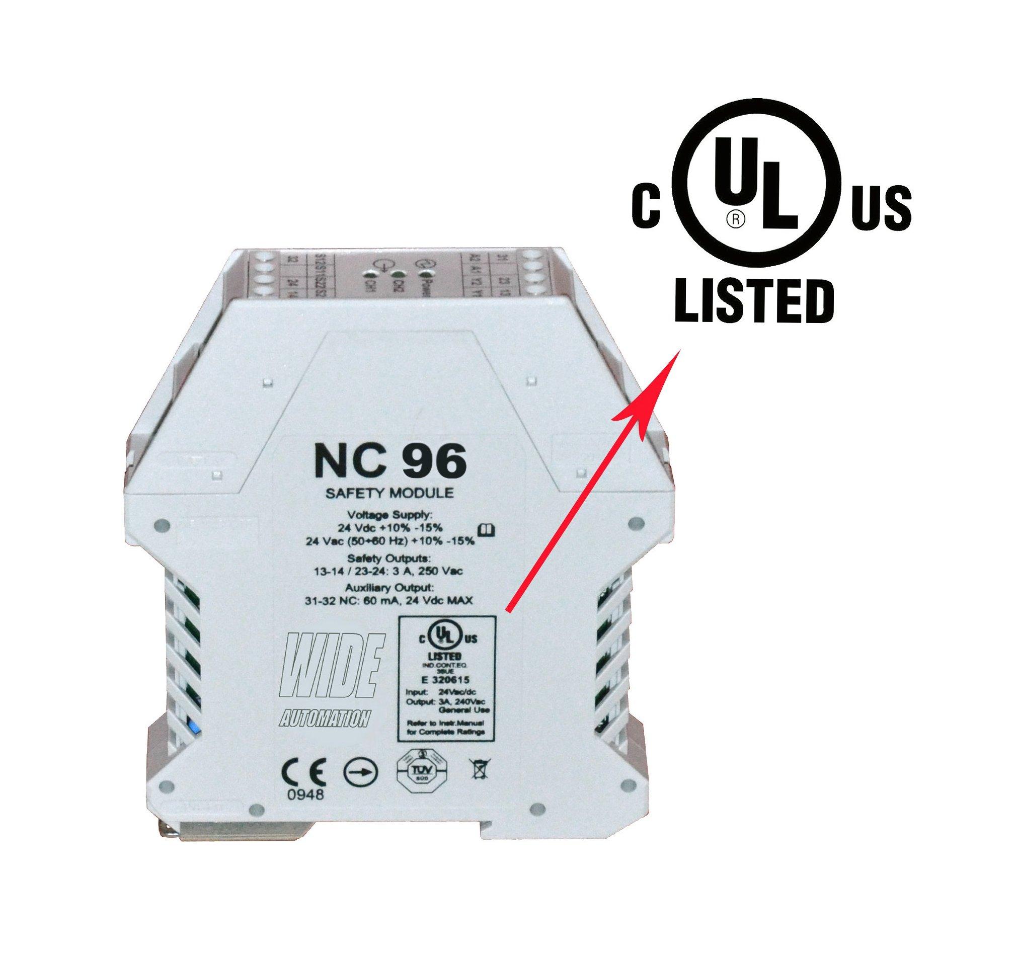 Wide Automation - Centralina di sicurezza NC 96